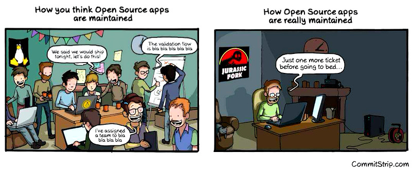 Commitstrip.com on Open Source Projects