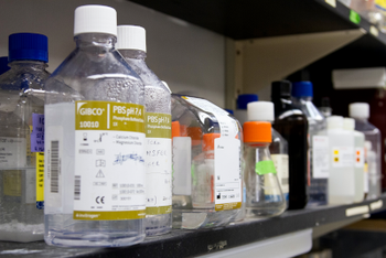 Reganet bottles in storage