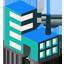 Lab icon blue green 64