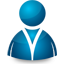Blue man icon 64
