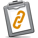 Clipboard and Chain icon 128