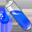 Test tube blue icon 32