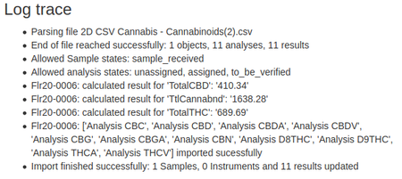 1 Cannabinoid Sample including Calculations