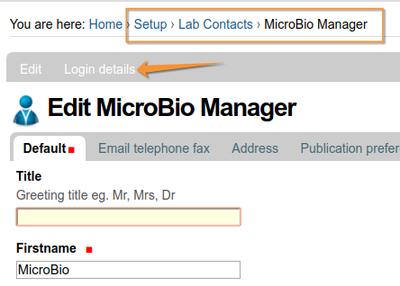 Lab Contact Login page. Bika v Senaite