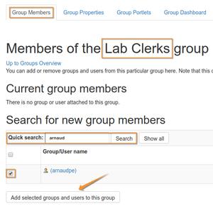 Add Member to Bika Senait Lab Clerks group