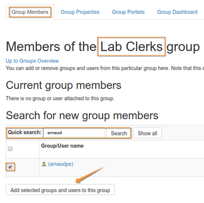Add Member to Bika Senait Lab Clerks group