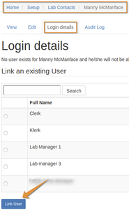 Link a Lab Contact to a LIMS user in Bika Open Source LIMS