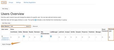 Remove users from Bika Senaite