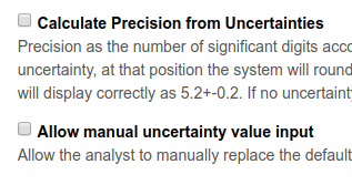 Bika | Senaite Analysis result Precision calculation from Uncertainty