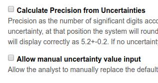 Bika | Senaite Analysis result Precision calculation from Uncertainty