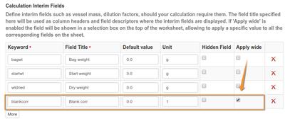 Factoring in Senaite Calculations. Calculation