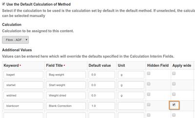 Factoring in Senaite LIMS Calculations. Analysis Service Configuration