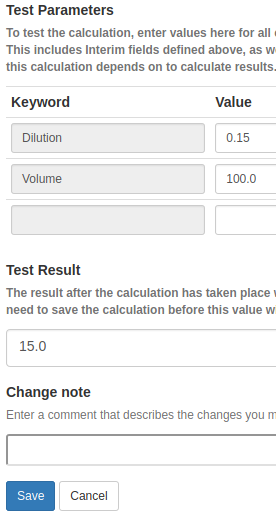 Testing a Calculation in Bika Open Source LIMS