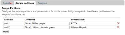 AR Template Sample Partition configuration in Bika and Senaite