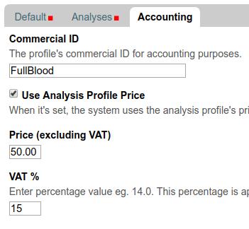 Price per Analysis Profile / Panel in Bika and Senaite