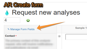 Manage Analysis Request Form fields in Bika LIMS Senaite