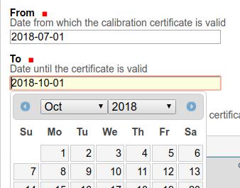 Instrument Calibration Certificates dates Bika Senaite Open Source LIMS