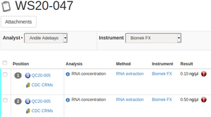 Instrument Fails QC after calibration in Bika Open Source LIMS