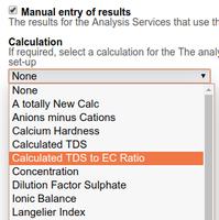 Analysis Method Calculation Selection Bika | Senaite