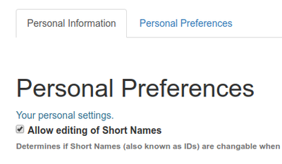 Make Short Name editing available for individual user in Open Source Plone based LIMS