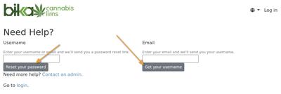 Retrieve username or password in Bika Open Source LIMS