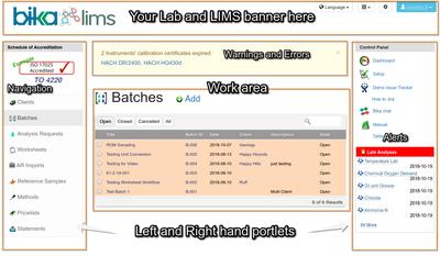 Bika Senaite  Open Source LIMS page layout