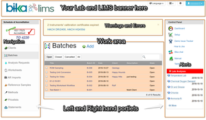 Bika Senaite  Open Source LIMS page layout