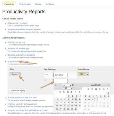 Populate the Report Parameters in Bika Open Source LIMS