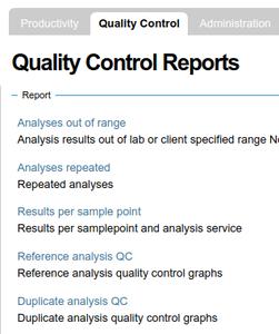 QC reports in Bika / Senaite Open Source LIMS