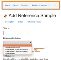 Reference Sample Create from Definition in Bika Senaite