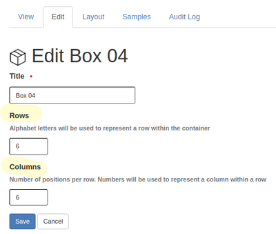 Configuring a Sample Container in Bika Open Source LIMS