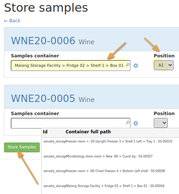 Store Samples in Bika Open Source LIMS