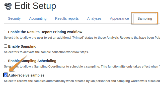 Auto Receive Samples in Bika Open Source LIMS