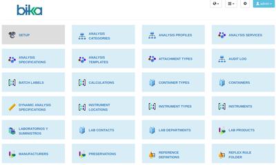 Bika Open Source LIMS Configuration tiles