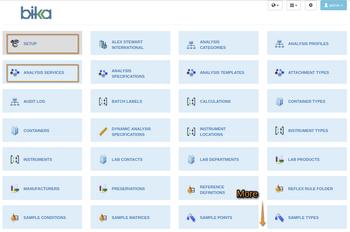Bika Open Source LIMS Setup pages