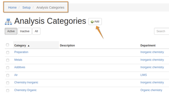 Create an Analysis Category in Bika Open Source LIMS