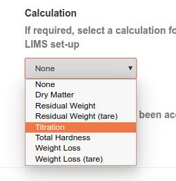 Method Calculation selection in Bika Senaite
