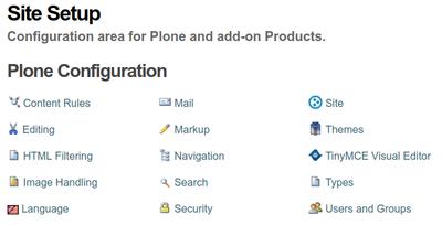 Plone configuration in Bika Senaite