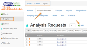 Add Analysis Request sans Batching in Bika and Senaite Open Source LIMS