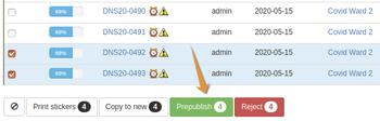 Push PrePublish button in Bika Open Source LIMS to publish provisional COA