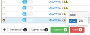 Sample Rejection from lists in Bika Open Source LIMS