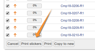 Print Sample barcode stickers from lists in Bika and Senaite open Source LIMS