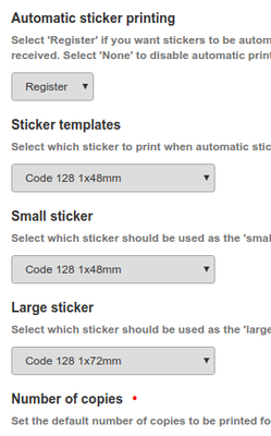 Sample label and barcode printing in Bika and Senaite Open Source LIMS