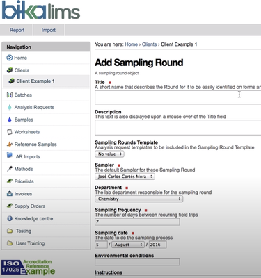 BIka Open Source LIMS Samling Rounds video