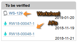 Alert - Analysis Requests and Worksheets to be Verified in Bika Open Source LIMS / Senaite