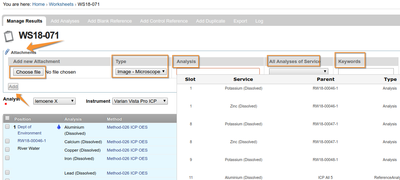 Upload attachments to Worksheet results in Bika and Senaite Open Source LIMS