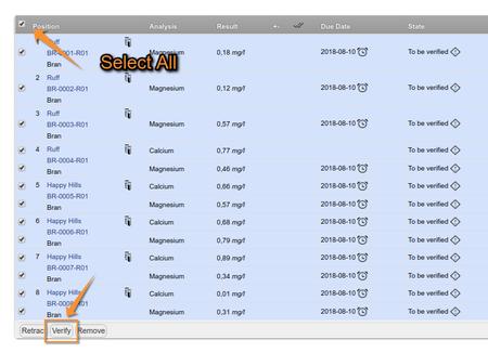Verify a Worksheet of analysis results in Open Source Bika LIMS / Senaite